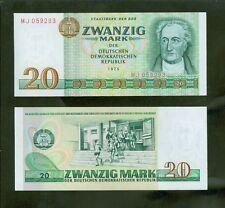 Banknote 20 Mark DDR 1975 Ro.362 unc./ kassenfrisch