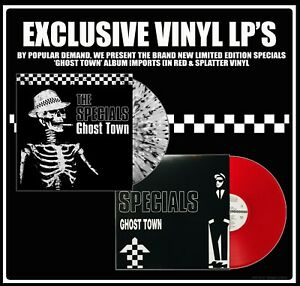 2TONE-EXCLUSIVE-GHOST-TOWN-VINYL-LP-FROM-THE-SPECIALS-RED-amp-SPLATTER-DESIGNS