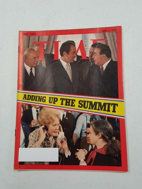 Time Magazine June 5 1972 Nixon Adding Up The Summit - English Weekly