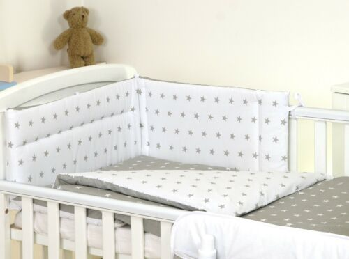 NURSERY BABY BEDDING SET FOR  COT OR COT BED CUTE TEDDY BEAR PATTERN 4 COLOURS
