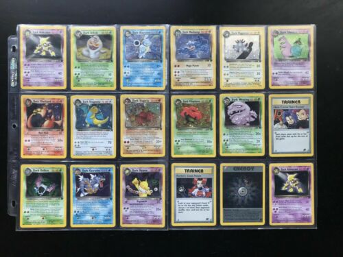 Rare Pokemon Card Complete Team Rocket Set //82 Pokemon Collection Dark Charizard