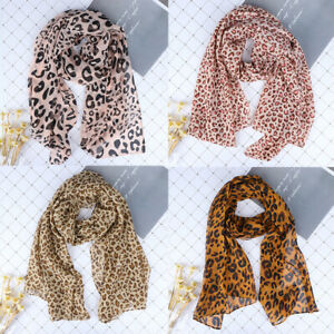 Ladies-Leopard-Animal-Print-Lightweight-Airy-Soft-touch-Rectangle-Everyday-Sc-iv