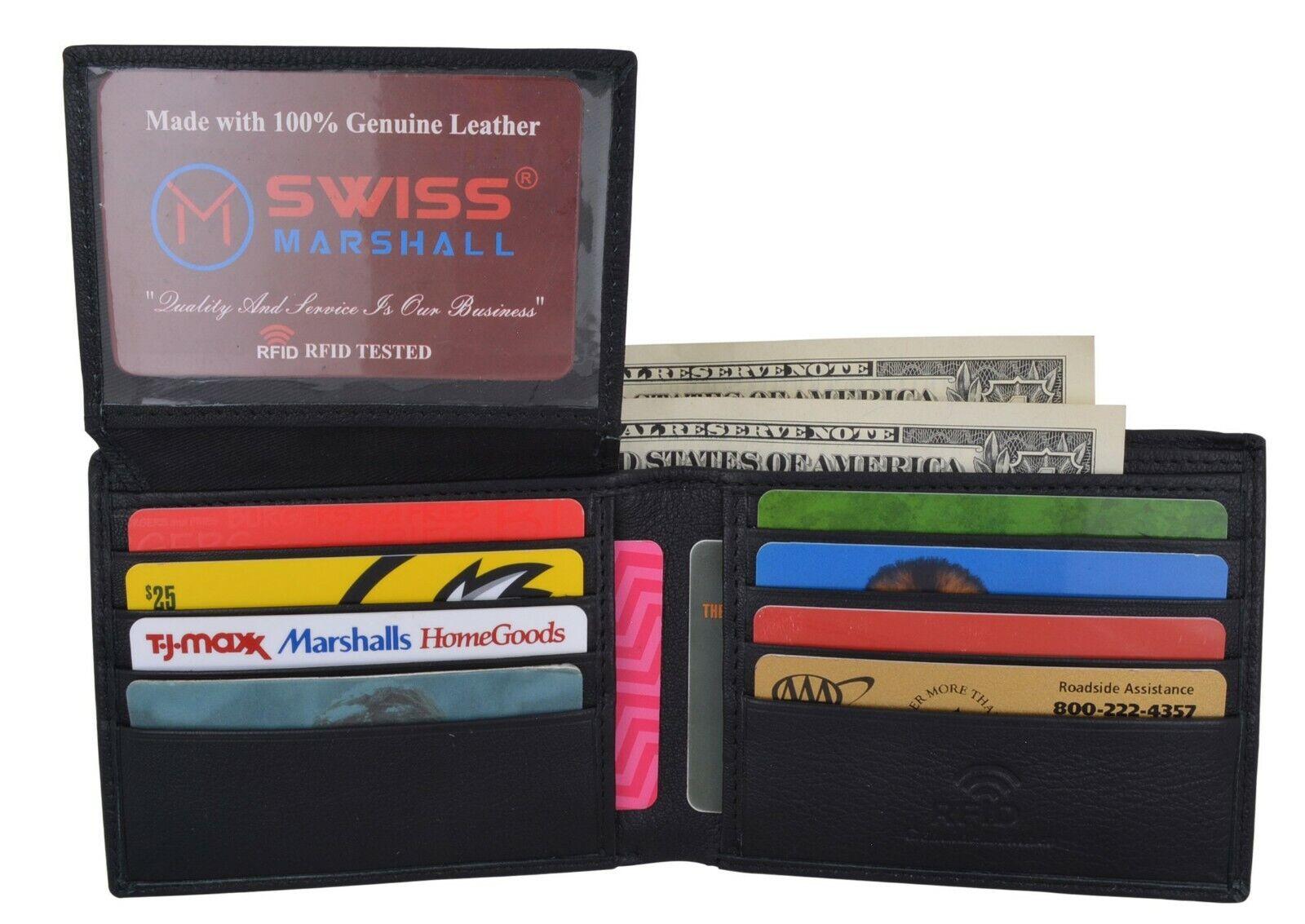RFID Blocking Brown Handcrafted Cowhide Leather Men's Bifold Premium Wallet