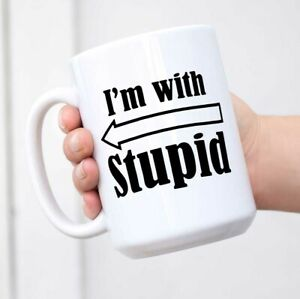 Island-Dogs-I-039-m-With-Stupid-Mug-Coffee-Mug-Coffee-Cup