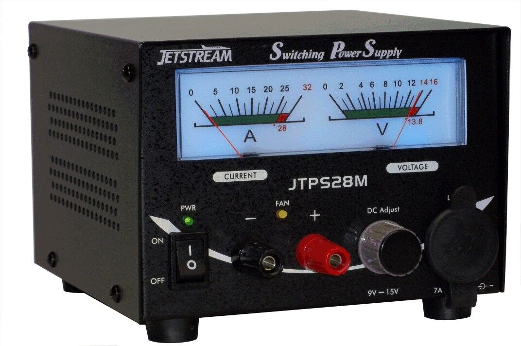 Jetstream JTPS28M 28 Amp Power Supply w/Volt and Current Meters. Available Now for 129.95