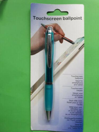 Sartphon PC Tablet Handy Computer Büro Kuli Farb 2 in 1 Eingabestift Touchpen f
