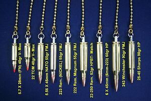 Details about Bullet Ceiling Fan Light Lamp Pull Chain 223, 243, 7, 308,  9mm, 357, 40, 44, 45