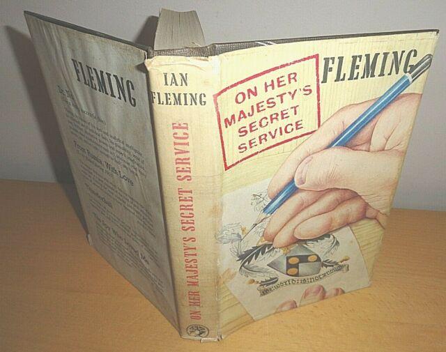 1963 auf Ihre Majestät Secret Service-Ian Fleming * 1st/First Ed James Bond OHMSS @