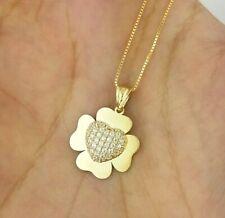 10K Yellow Gold Four Leaf Clover Charm 15x16mm  0.42gr