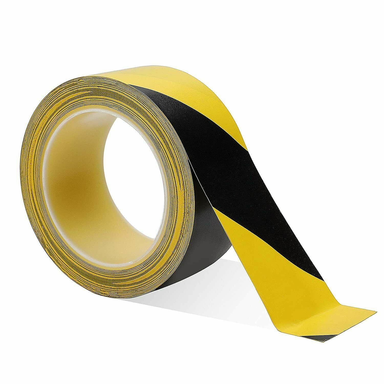 Social Distancing Floor Tape Pvc Hazard Warning Rolls 50mm x33m