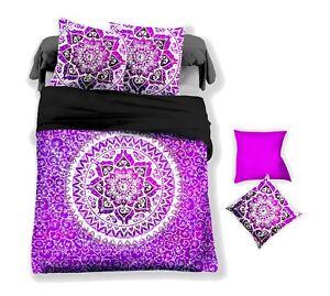3D Purple Floral Pattern Quilt Cover Set Bedding Duvet Cover Single/Queen/King 5