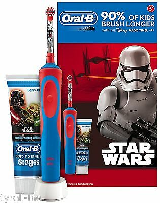 STAR WARS ORAL B Stages Vitality Rechargeable Toothbrush Giftset NEW BOXED
