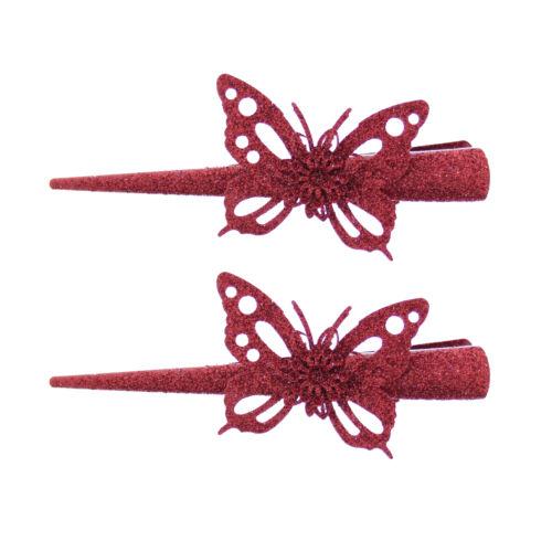 Paire de paillettes Papillon Motif Long Bec//concord clips cheveux