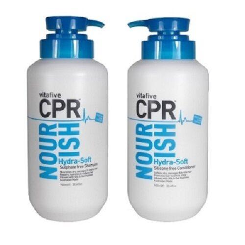 Vita 5 CPR Nourish  Hydra-Soft SHAMPOO & CONDITIONER 900ML + Pumps