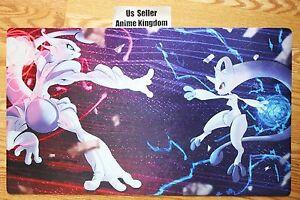 Usa seller yugioh playmat mat cool pokemon mewtwo vs mew - Mew mega evolution ...