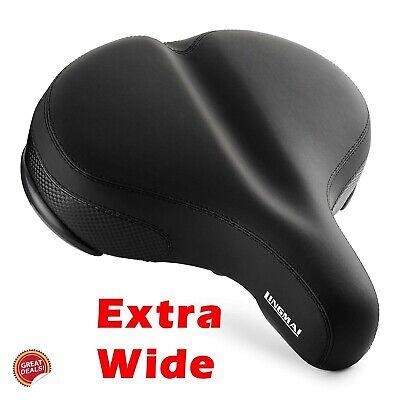 Extra Wide Bicycle Seat Bike Beach Cruiser Exercise Cushion Saddle Oversized New