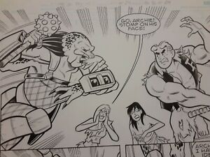 Archie vs The Predator Original Comic Book Art Page Signed