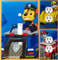Paw Patrol Light Switch Wall Plate Covers For Kids Room Decor Or Nursery