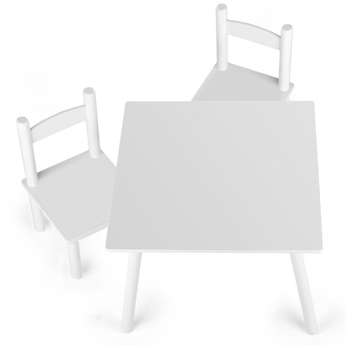 En Bois Table et chaises-Blanc
