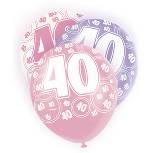 Image Is Loading 12 034 Latex Happy 40Th Birthday Balloon Age