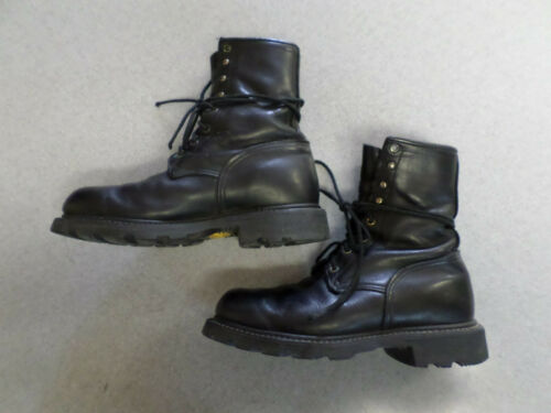 Red Wing Black Leather, Steel Toe Work Boots. Men'