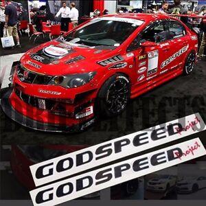 2x Godspeed Project Gsp Racing Decals Stickers Vinyl Car Auto Jdm
