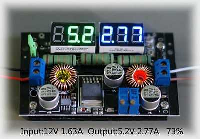 1.25-50V Adjustable Buck-Boost CC-CV Power converter module LED Volt amp meter