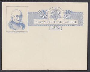 Great-Britain-H-amp-G-B10-mint-1890-1p-QV-Envelope-w-Orig-1p-Postal-Card-Enclosure