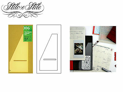 Midori Pocket Sticker | Refill Midori 006 | Traveler's Notebook Regular Size