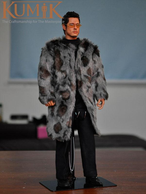 1 6 Scale KUMIK KMF025 Brad Pitt Fur Coat 12  Action Figure