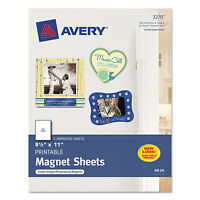 Avery Printable Inkjet Magnet Sheets 8 1/2 X 11 White 5/pack 3270 on sale