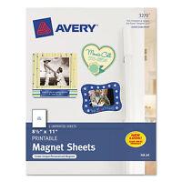 Avery Printable Inkjet Magnet Sheets 8 1/2 X 11 White 5/pack 3270 on sale