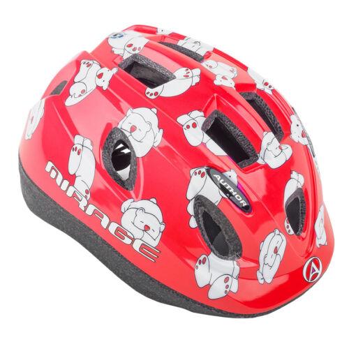 Author Fahrradhelm Mirage Kinderhelm Größe M 48cm-54cm Eisbär Dial-Fit rot