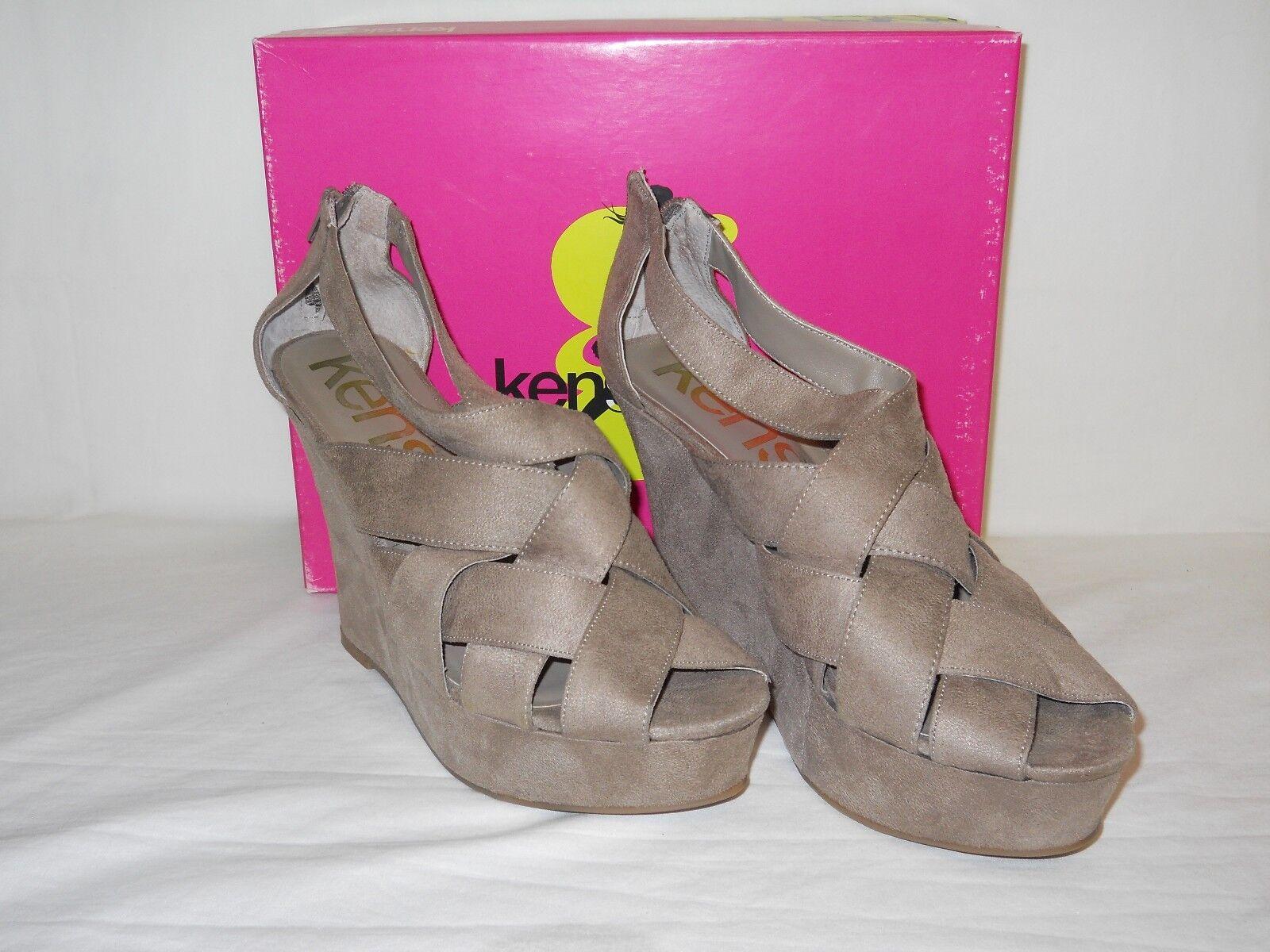 Kensie Girl New Womens Gavin Beige Shoes Wedge Sandals 9 M Shoes Beige NWB d03ed7
