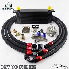 16 ROW OIL COOLER KIT FOR NISSAN Silvia S13 S14 S15 180SX 200SX 240SX SR20DET BK