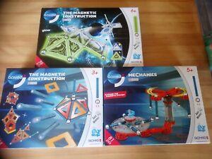 Lot 3 jeux Magnetic construction dont 2 Sciences 1 Expand système Galileo Geomag