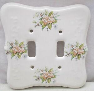 Vintage Porcelain Light Switch Plate Decorative Cover