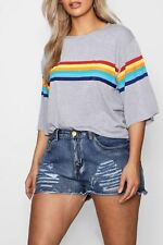 item 4 Ladies Womens Casual Basic Rainbow Printed Oversized T-Shirt Baggy  Tee Top -Ladies Womens Casual Basic Rainbow Printed Oversized T-Shirt Baggy  Tee ... 18f80832e