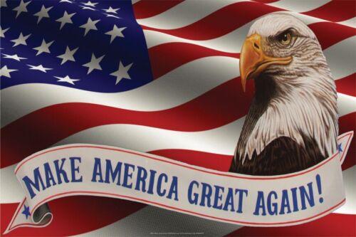 AMERICAN PRIDE POSTER 24x36 EAGLE 36737 MAKE AMERICA GREAT AGAIN