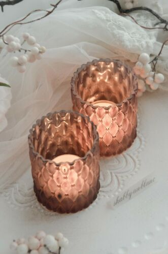 Windlicht Teelichthalter Teelichtglas Kerzenleuchter  Glas Shabby Chic
