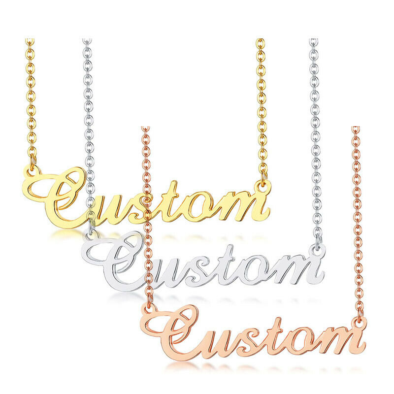 Personalized DIY Name Custom Women's ID Necklace Grandmother Bridesmaid Gift