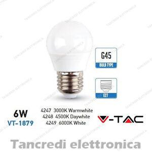 Lampadina-led-V-TAC-6W-40W-E27-VT-1879-G45-miniglobo-bianca-lampadine-smd-VTAC