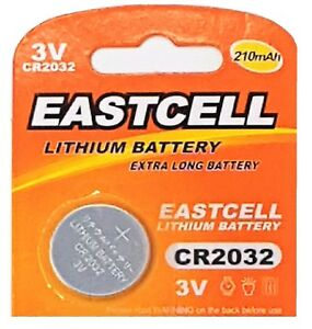100-x-CR2032-EASTCELL-3V-Markenbatterien-SPARPACK-Knopfzelle