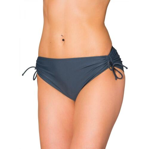 Aquarti Damen Bikinihose mit Raffung und Schnüren