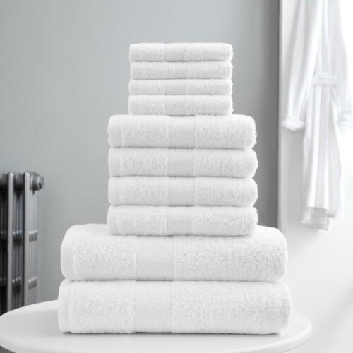 100/% EGYPTIAN COTTON TOWEL BALE SET 10 PIECE FACE HAND BATHROOM TORONTO TOWELS