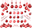 thumbnail 2 - Red-Baubles-Christmas-Nail-Decal-Xmas-Water-Transfer-Sticker-Tattoo