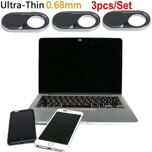 3Pcs Webcam Cover Slider Camera Shield Privacy For Laptop Cell Phone Macbook