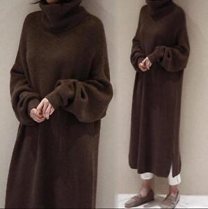 a maglia allentato abito lungo Womens tuta lavorato oversize chic maglione maxi maglione qptZx4wE