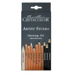 Cretacolor-11-Piece-Foundation-Drawing-Set-NEW-Artist-Quality-Pencils-Austria