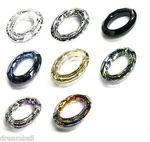 1c48541b9965f Details about Swarovski Crystal Element 4137 Oval Cosmic Ring Frame Pendant  Many Color & Size